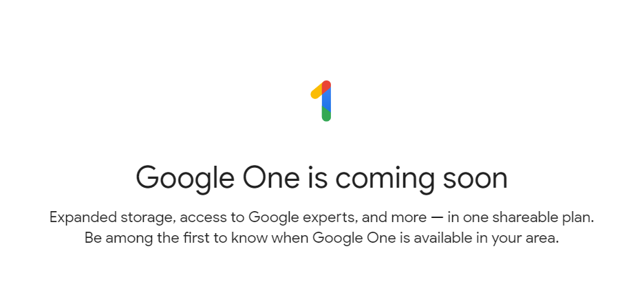 what is google one